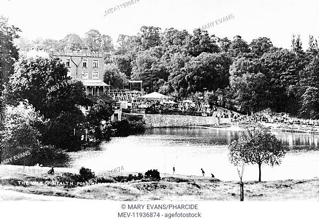 Funfair and Tea Garden, Vale of Health Hotel, Hampstead Heath, NW London