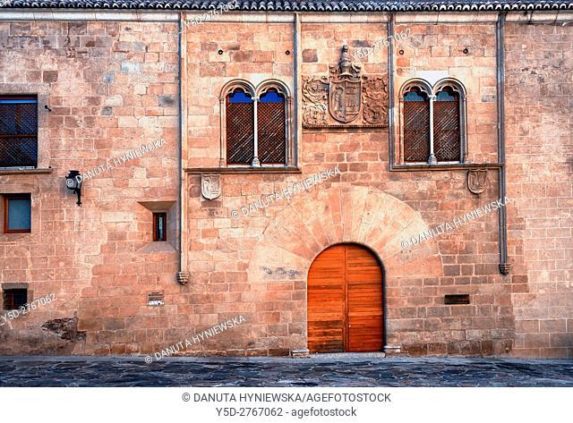 Mayoralgo palace, Palacio de Mayoralgo, Old Town of Caceres, UNESCO World Heritage List, 1986, Extremadura. Spain, 15th-16th century