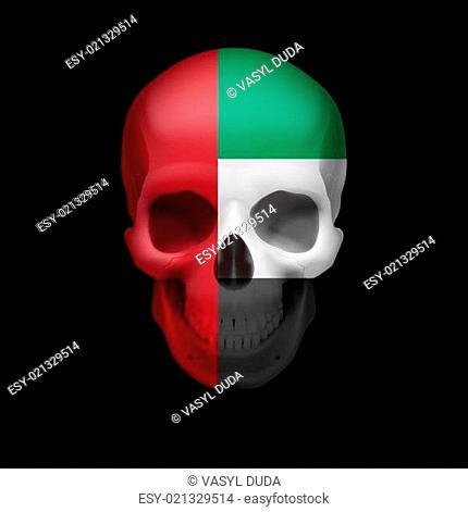 UAE flag skull