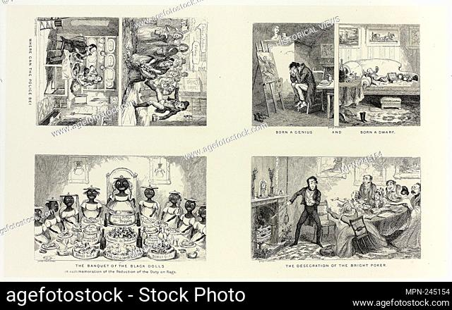Where Can the Police Be? from George Cruikshank's Steel Etchings to The Comic Almanacks: 1835-1853 (top left) - 1847, printed c