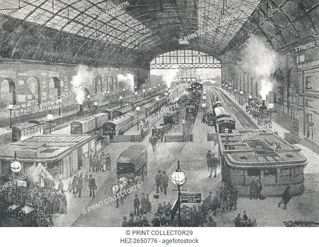 'Cannon Street Station - Night', 1891. Artist: William Luker