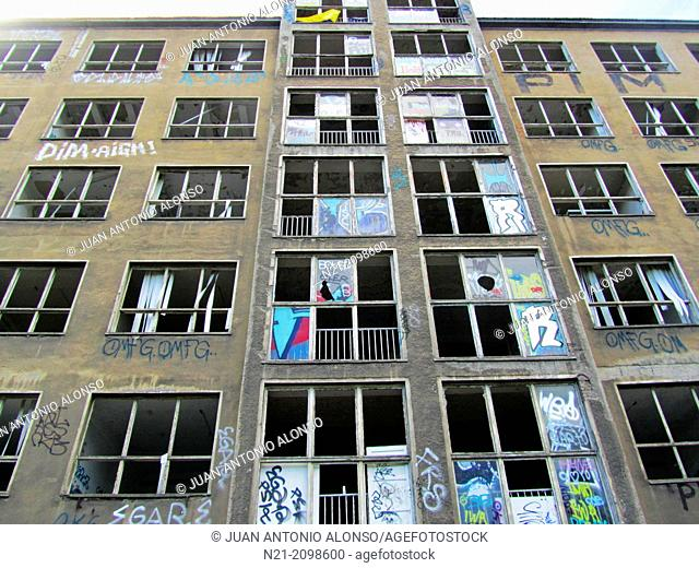 One of the many abandoned buildings in East Berlin. Berlin, Germany, Europe