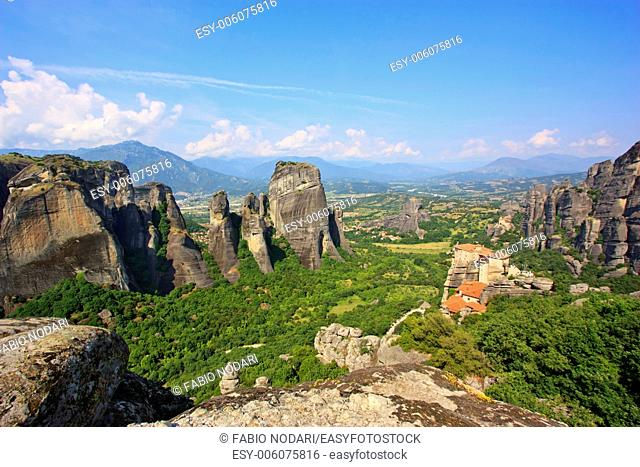 Monastery of Meteora and rocks - Greece