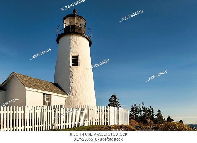 Pemaquid Point Light Station, Muscongus Bay, Bristol, Maine, USA