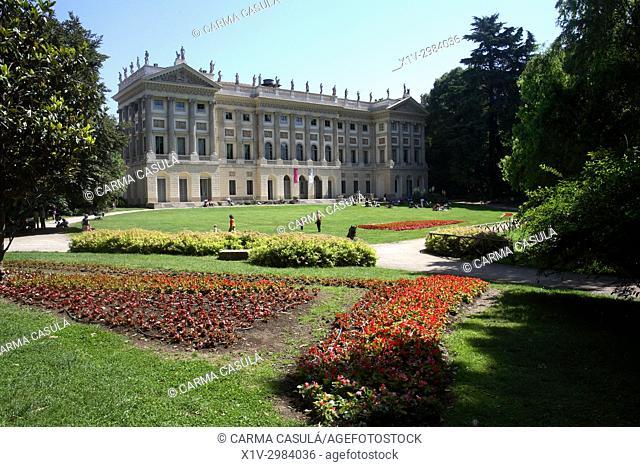 Gardens of Villa Reale, Galleria d'Arte Moderna or Modern Art Gallery. Milan, Italy. Close to Giardini Pubblici