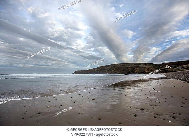 cloudy sky, Trepasses bays, Finistere, Bretagne, France
