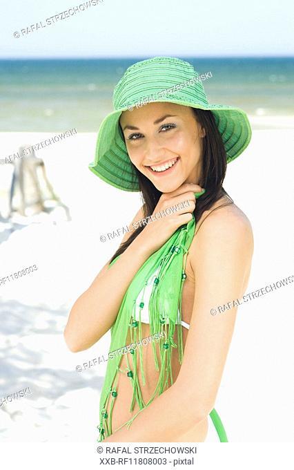 beauty woman on beach