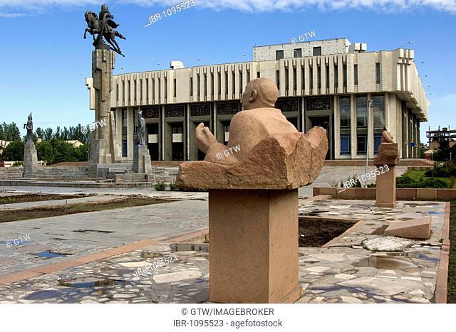 Statue in front of the Philharmonic house, Bishkek, Kyrgystan