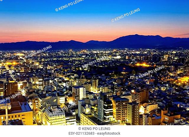 Kyoto City night in Japan