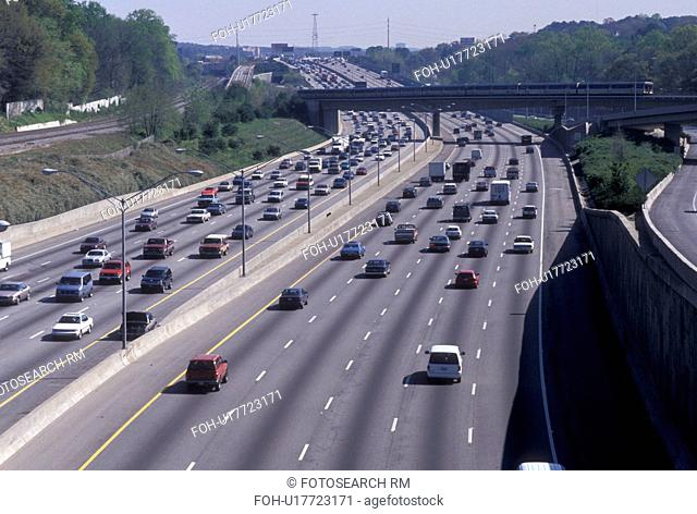 expressway, highway, Atlanta, Georgia, GA, Traffic on I-85 in Atlanta
