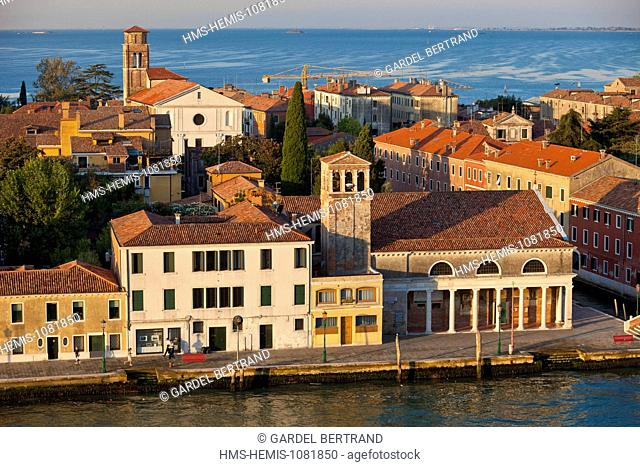 Italy, Venetia, Venice, listed as World Heritage by UNESCO, San Giorgio Maggiore island on the opposite bank of the canal San Marco