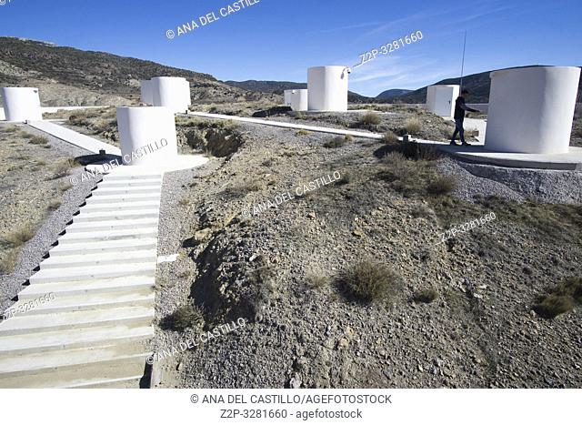 ARCOS DE LAS SALINAS SPAIN : The astronomical observatory of Galactica Teruel province Aragon Spain on February 2019