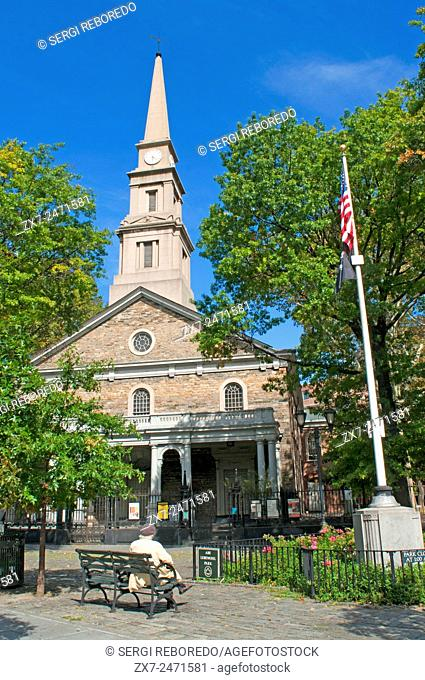 The church of St. Mark's-in-the-Bowery Church in the East Village. The second oldest church in New York stands on the land where the private chapel of Peter...