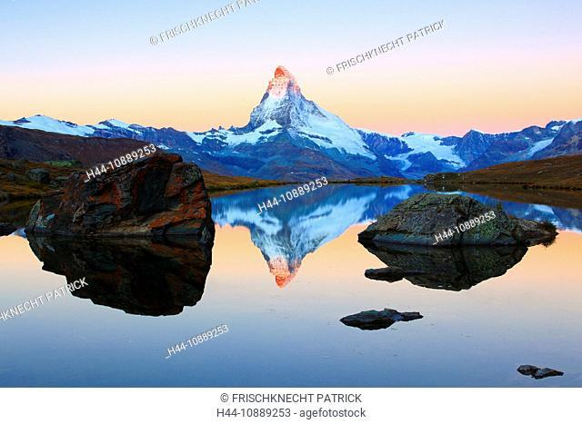 Alps, Alpine panorama, view, mountains, mountain panorama, mountain lake, peak, cliff, rock, mountains, summit, peak, autumn, scenery, Matterhorn, Mattertal