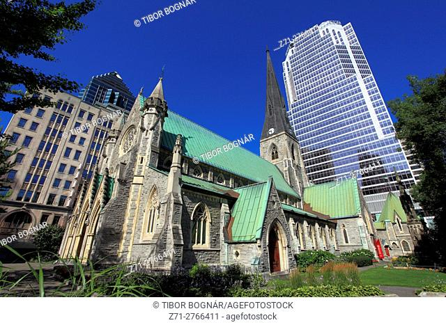 Canada, Quebec, Montreal, Christ Church Cathedral, KPMG Tower,