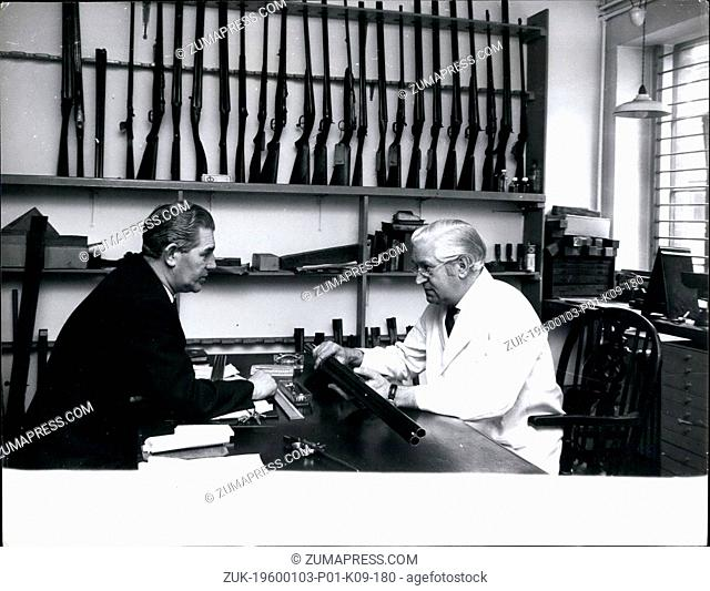Jan. 10, 1975 - Works manager of the purdey fectory in Paddington, Christopher Gadaby, (left) discussing his work. (Credit Image: © Keystone Pictures...