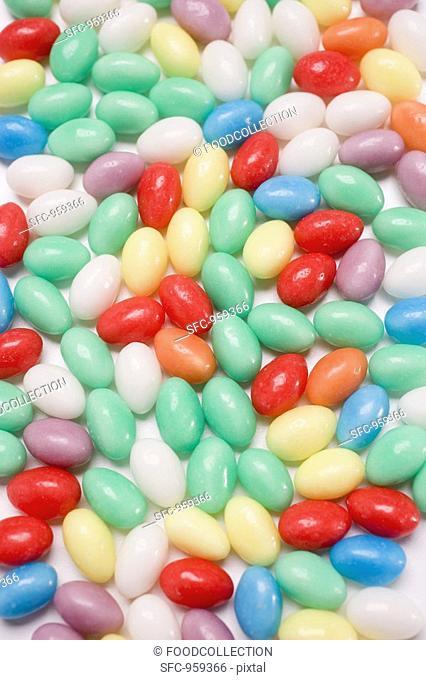 Coloured sugar eggs full-frame