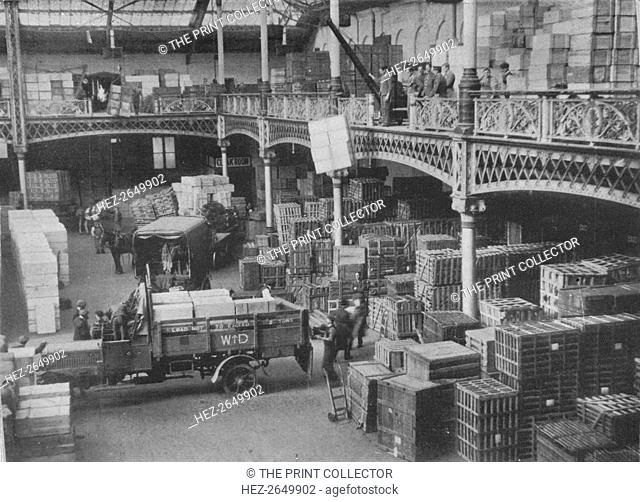 'The despatching room of one of the great Government stores', 1915. Artist: Unknown