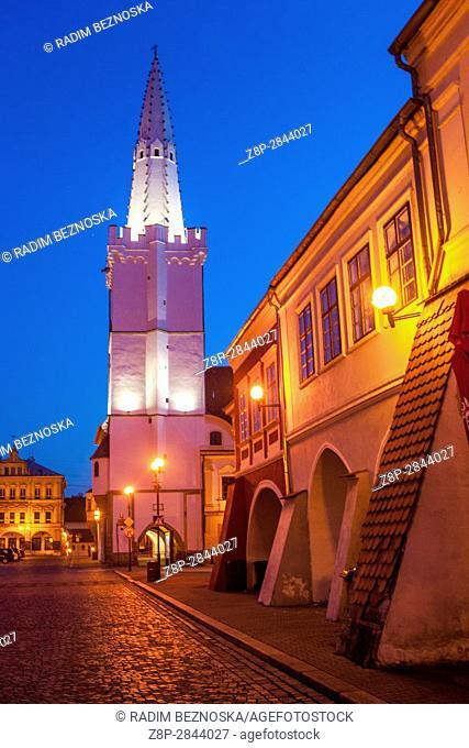 Gothic City Hall Tower, Kadan, Northern Bohemia, Czech Republic, Europe