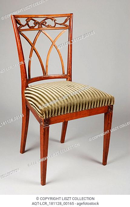 Eggshade Louis Seize chair, chair furniture furniture interior design wood elmwood velvet, Eight lions Louis Seize chair with curved bars in the back of the...