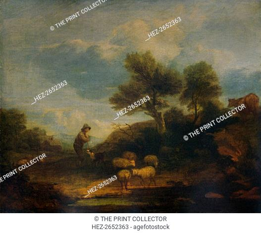'Landscape with Sheep', 18th century, (1935). From A Catalogue of the Pictures and Drawings in the Collection of Frederick John Nettleford, Volume II