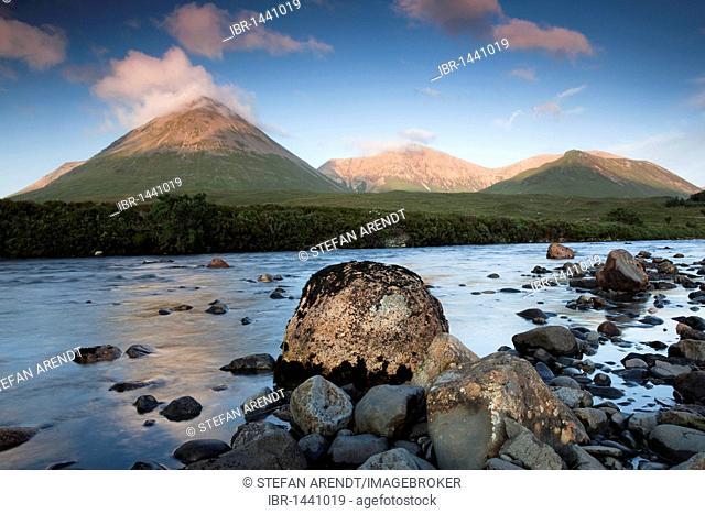 The River Sligachan on the Isle of Skye, Highland Council, Scotland, United Kingdom, Europe