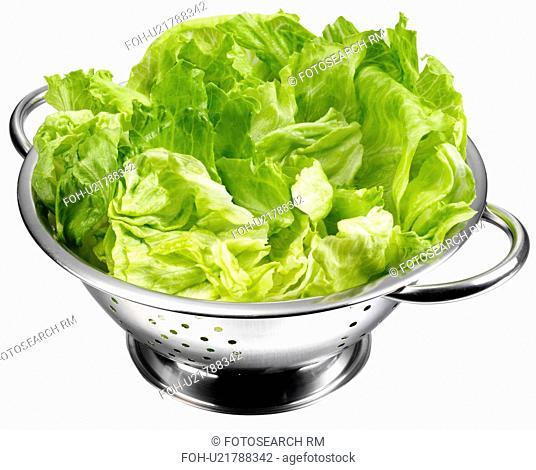 Lettuce In Collander Cut Out