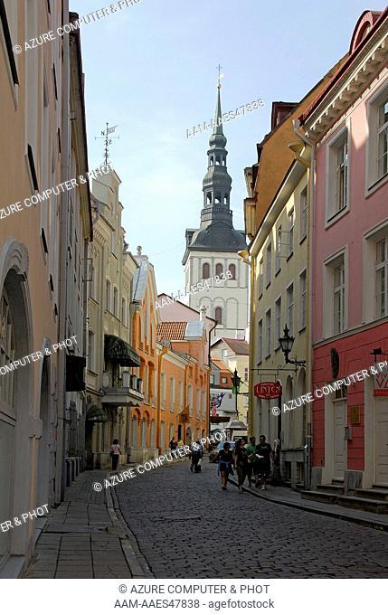 Short Leg Street down to Short Leg Gate, Tallinn, Estonia