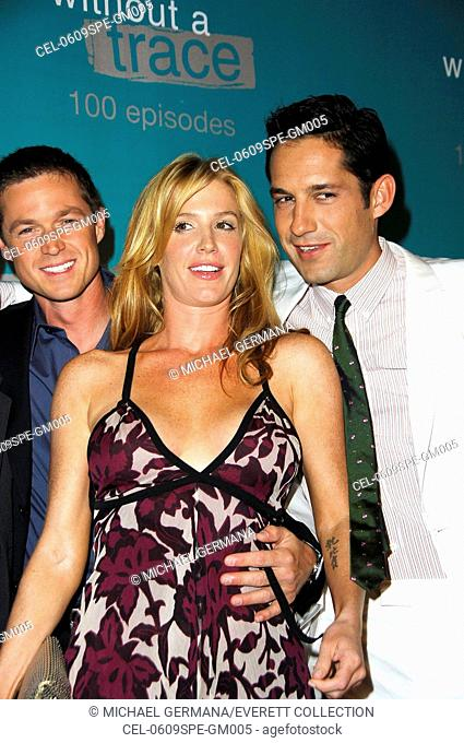 Eric Close, Poppy Montgomery, Enrique Murciano at arrivals for WITHOUT A TRACE Celebrates 100th Episode, The Cabana Club at Sterling Steakhouse, Los Angeles, CA