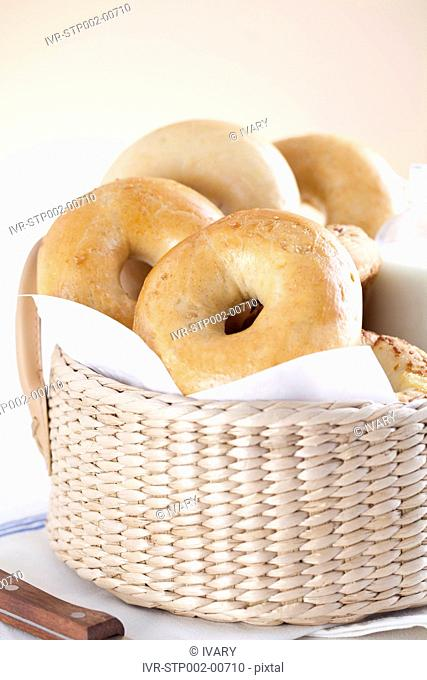 Close-up Of Bakery Items With A Basket