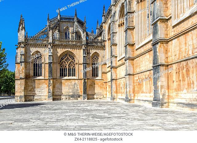 Dominican abbey of Santa Maria de Vitoria, Batalha, Estremadura and Ribatejo Province, Portugal, Unesco World Heritage Site