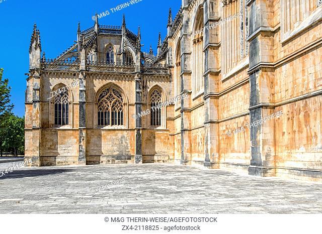 Dominican abbey of Santa Maria de Vitoria, Batalha, Estremadura and Ribatejo Province, Portugal, Unesco World Heritage Site
