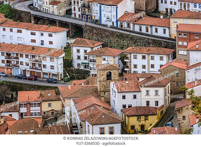 Llastres village in Colunga municipality, within autonomous community of Asturias, in northern Spain