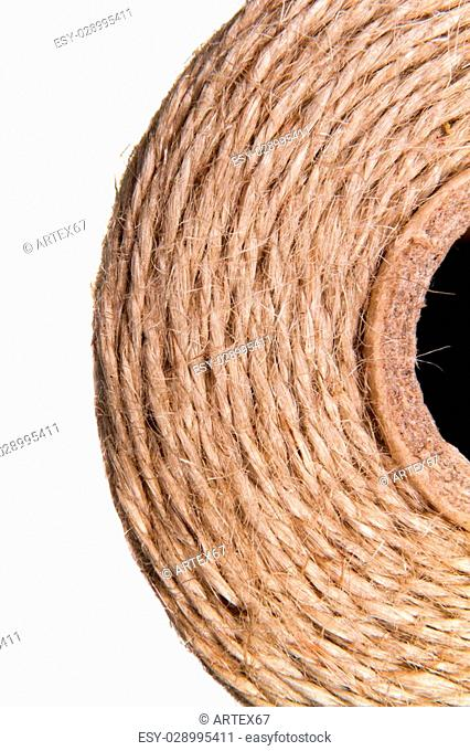 a image background coil of hemp thread
