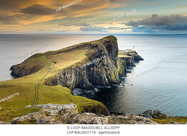 Neist Point is a popular viewpoint on the most westerly point of Skye
