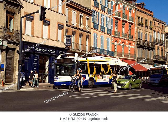 France, Haute Garonne, Toulouse, Rue des Freres Lion
