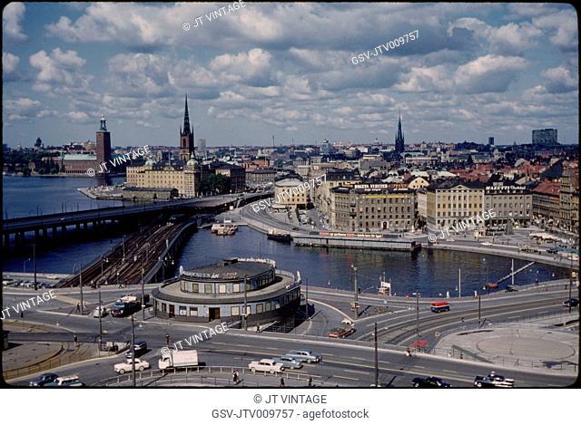 Cityscape, Stockholm, Sweden, 1966