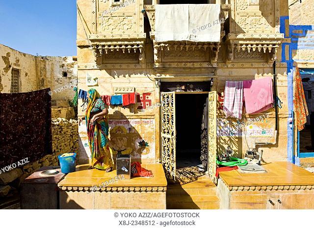 India, Rajasthan, Jaisalmer, daily life