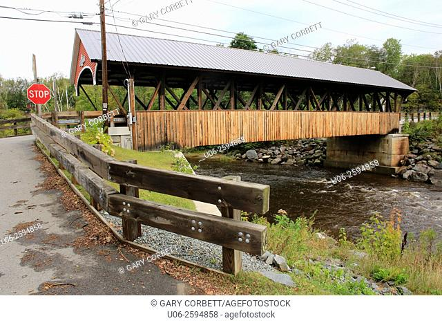 The Mechanic Street Covered Bridge, Lancaster, New Hampshire, USA