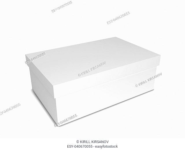 Shoe box. 3d illustration isolated on white background