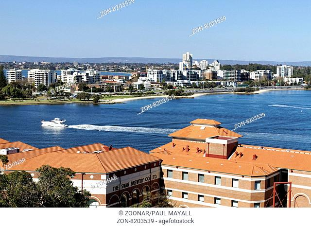 South Perth skyline from Kings Park, West Australia
