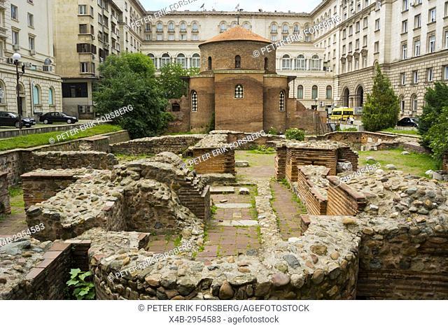 Church St. George Rotunda and Roman era ruins of Serdica, Sofia, Bulgaria