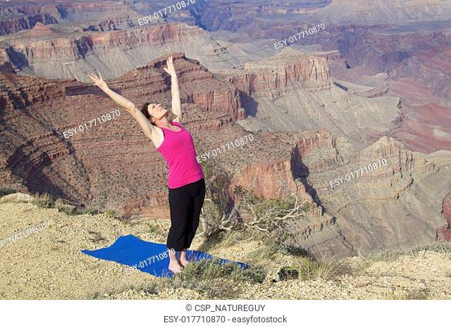 Yoga Stretch at Grand Canyon