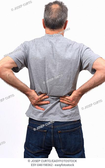 man pain on back