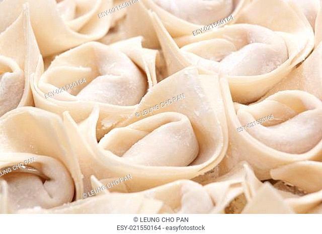 uncook chinese meat dumpling