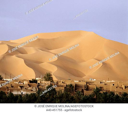 Oasis. Kerzaz. Grand Erg Occidental. Sahara. Algeria