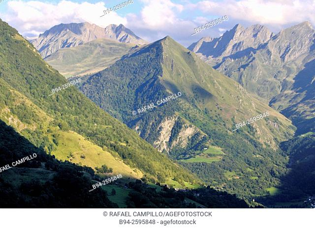 View from Viscos, Hautes-Pyrenees department, South western France
