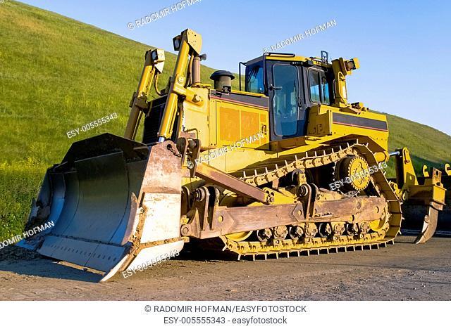 Yellow Bulldozer, Northern California outdoors