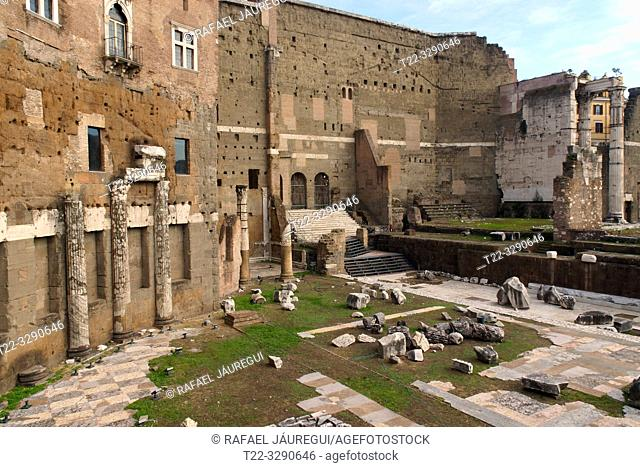 Rome (Italy). Augustus forum in the city of Rome