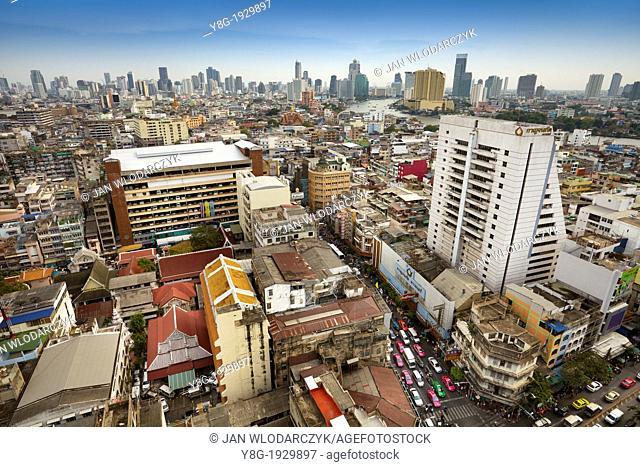 Thailand - Bangkok city aerial view from The Grand China Princess Hotel, Bangkok